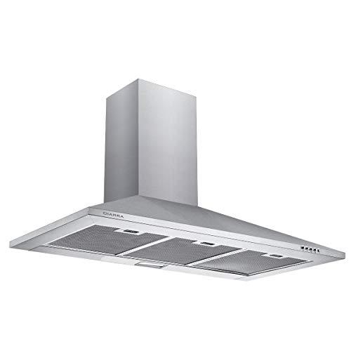 CIARRA CBCS9201 Cappa Aspirante 90 cm 380 m/h Cappa da Cucina,in acciaio INOX, 3 gradini,filtro in...
