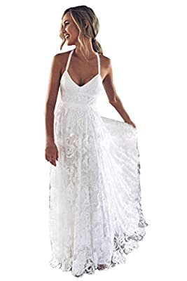 A Line, Deep V-Neck, Spaghetti Straps, Full Lace, Side Slit, Empire, Court Train, Built-in-Bra, Criss-Cross Backless. Suit for Prom, Wedding Party, Bridesmaid, Homecoming, Celebrity, Red Carpet, Evening Party, Graduation,Christmas, Holiday Party, Swe...