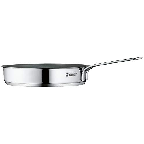 WMF - Mini padella rivestita piccola, 18 cm, in acciaio INOX Cromargan lucido, a induzione, impilabile, ideale per piccole porzioni o singole case