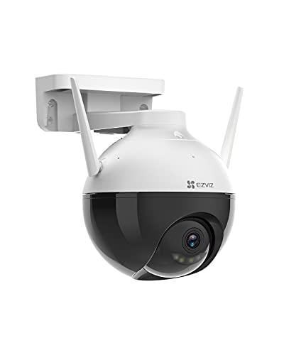 EZVIZ C8C Camera Surveillance WiFi Extérieure 1080P avec Vision Nocturne en Couleur, Dôme Caméra IP 360° Etanche IP65 Alerte de Détection de Mouvement par IA H.265