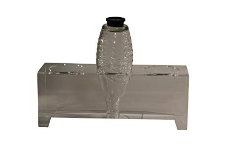 flexiPLEX bottleDRY Triple aus PLEXIGLAS® Abtropfhalter und Flaschenständer transparent für Glasflaschen