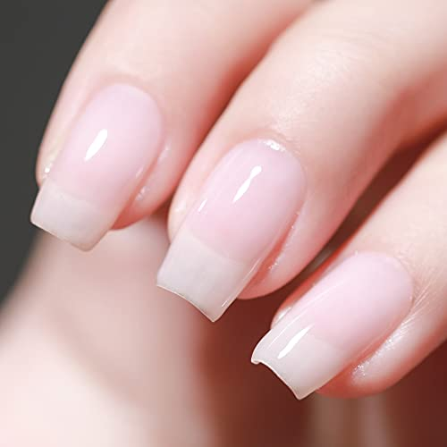 FANZEST Gel Nail Polish LED UV Translucent Jelly Gel Nail Varnish Nail Art Manicure Pedicure (Milky White)