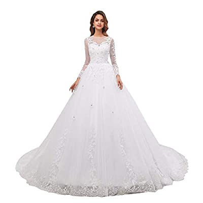 FABRIC: Applique Lace Tulle Beaded SIZE:This dress made in US2-US16,please see clearly of our size chart on the left side pictures,if you are not sure about your size then please feel free to contact us,we will help you to chose the best fitting size...