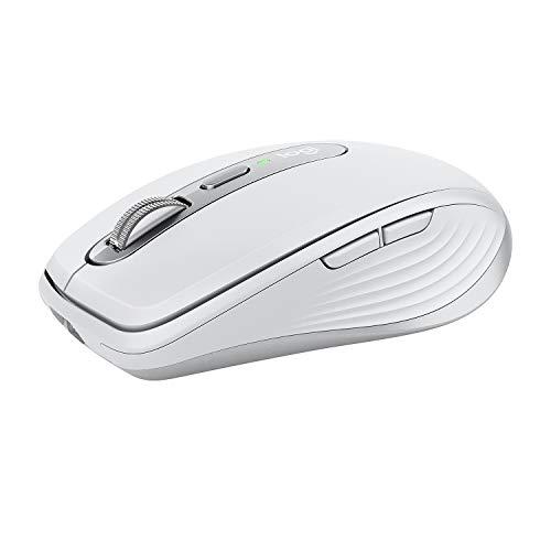 Logitech MX Anywhere 3, Souris Compacte, sans Fil, Défilement Magnétique, Toute Surface, Capteur 4 000 PPP, Boutons Personnalisables, USB-C, Bluetooth, Apple Mac, iPad, Windows, Light Grey