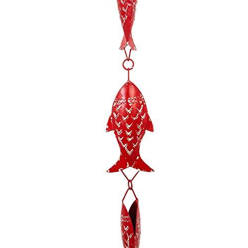 Evergreen Garden Regenkette mit roten Fischen, doppelseitig, 10,2 x 5,1 x 152,4 cm