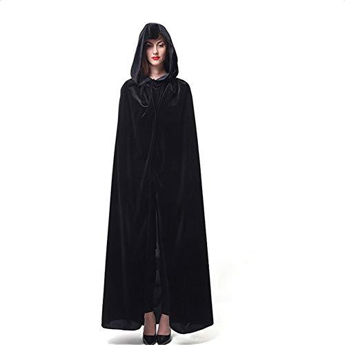 Bolasy Capa con Capucha Capa Disfraz de Caballero Cosplay Disfraz para Traje de Halloween Recuerdo de Vacaciones Capa de Adulto(170cm)