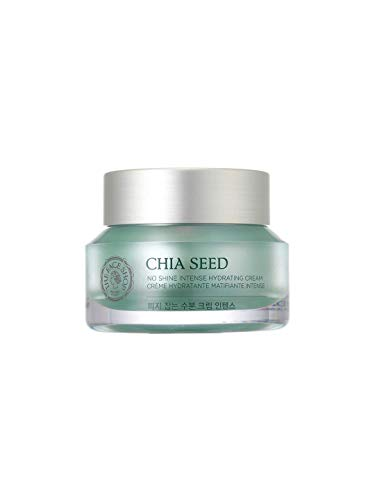 [THEFACESHOP] Chia Seed No Shine Intense Hydrating Cream, Simple Skin Care For Normal To Oily Skin, Dermatologist Tested,50mL/1.69Oz