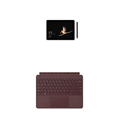 "Microsoft Surface Go, 10"", 8Go RAM 128Go SSD, Windows 10 + Type Cover Signature Surface Go Bordeaux (Alcantara) AZERTY"