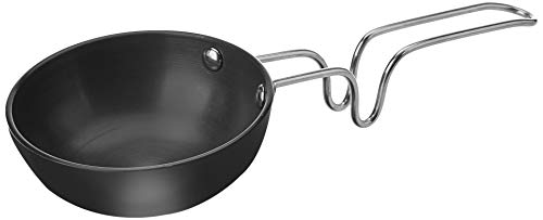 Amazon Brand - Solimo Hard Anodized Small Tadka Pan (9.4cm),Aluminium, Black