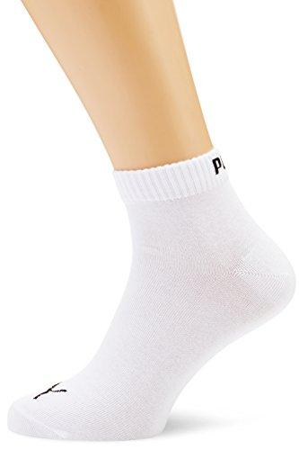 6 paia di calzini corti sportivi, unisex, Unisex, bianco, 6 Paar - Gr- 43-46