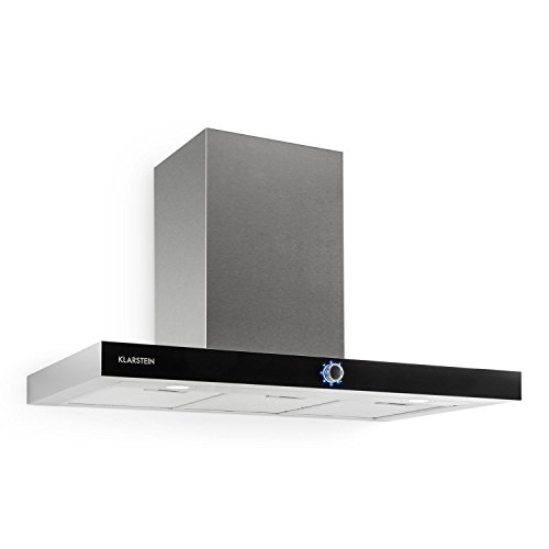 Klarstein Matthea Cappa Aspirante da cucina a parete in acciaio (90 cm, capacit di aspirazione pari...