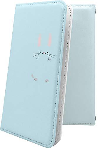 MADOSMA Q501WH ケース 手帳型 動物 動物柄 アニマル どうぶつ ウサギ 兎 兔 マドスマ ロゴ ワンポイント ...