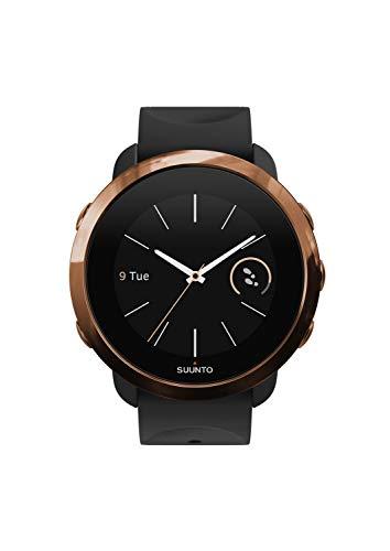 Suunto 3 Fitness - Reloj Multideporte con GPS y pulsómetro incorporado, Pantalla Matricial, Unisex Adulto, Negro/Cobre (Copper), Talla Única