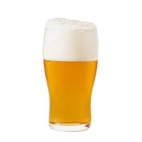 Umi.by Amazon Bicchieri da birra 570ml Set da 6 Birra in Vetro senza piombo Trasparente Arredo Tavola