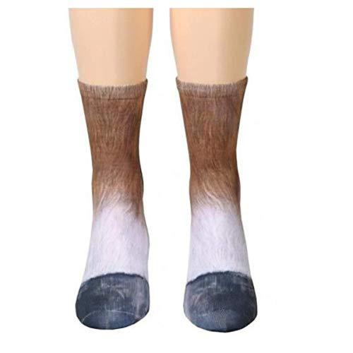 MeiPing Calze Donna Calze Donna Uomo Adulto Unisex Con Zampa Animale Stampa Sublimata Calzini Adulti Animali 3D