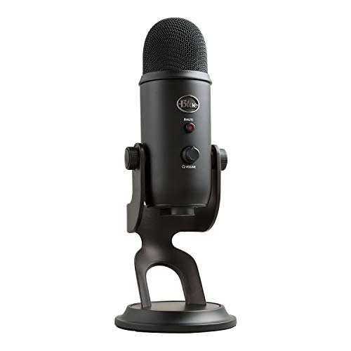 Blue Microphones Yeti USB Mic for Recording and Streaming on PC and Mac, 3 Condenser Capsules, 4...