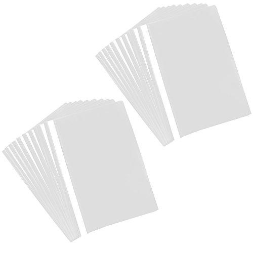 com-four Cartella 20x A4 - Cucitrice con Etichette adesive - Cucitrice in plastica per Scuola, Ufficio e casa - Senza PVC (20 Pezzi - Bianco)