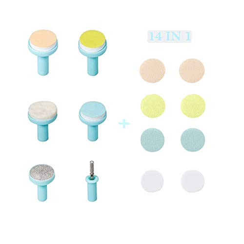 Fansidi Electric Baby Nail File Replacement Pads- Electric Baby Nail Trimmer Clipper Sandpaper Pads (Blue)