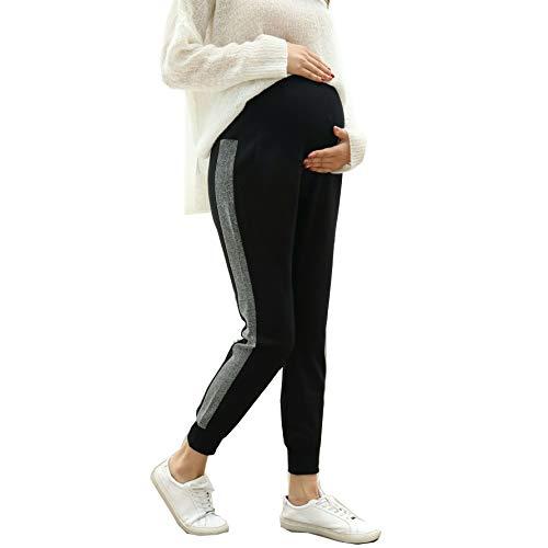 Mama Pantaloni Pantaloni Premaman Nero maternit Pantaloni Gravidanza Leggings Fascia Elastica...
