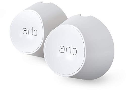 Juego de montaje de pared magnético Arlo para cámaras de vigilancia Arlo Ultra y Ultra 2, Pro 3 y Pro 4, accesorio Arlo original, 2 piezas, blanco, VMA5000-10000S