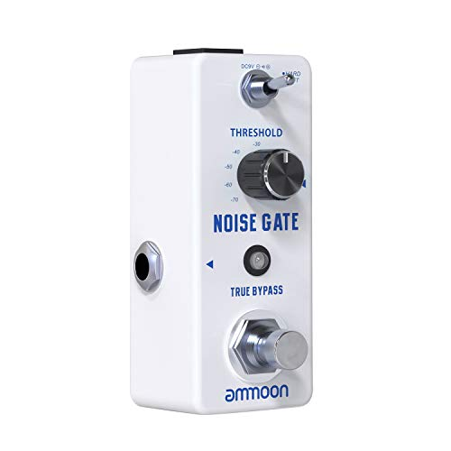 ammoon NOISE GATE Noise Reduction Guitar Effect Pedal 2 Modes(Hard/Soft) Full Metal Shell True Bypass for Bass Electric Guitar