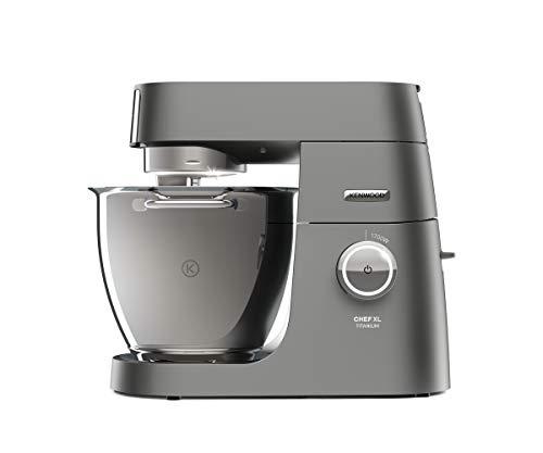 Kenwood Chef XL Titanium KVL8320S Küchenmaschine, 6,7 l Edelstahl Schüssel mit Innenbeleuchtung, Interlock-Sicherheitssystem, 1700 Watt, inkl. 5-Teiligem Patisserie-Set und Glas-Mixaufsatz, Silber