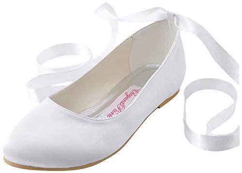 ElegantPark Wedding Flats Shoes Women Wedding Shoes