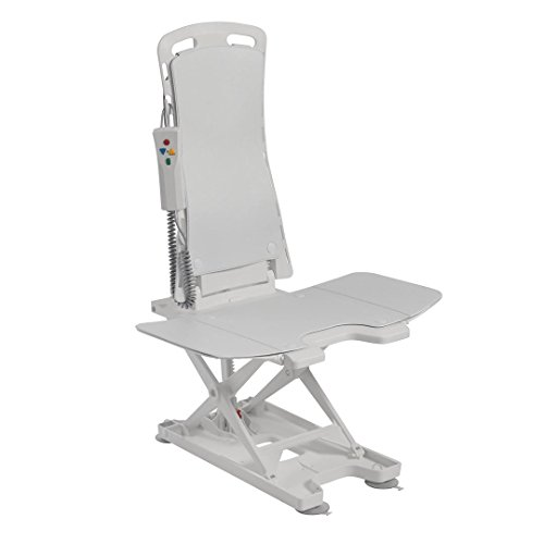 Drive Medical Bellavita Badewannenlift, klassisches Weiß mit blauem Bezug