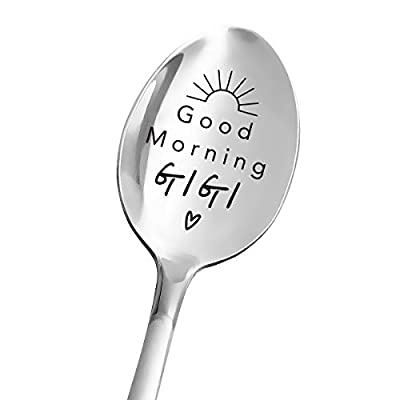 PERFECT GIGI GIFT: This spoon is a great gift for gigi.Every time she uses a spoon, she will think of your love for her. It can be used in many occasions, such as birthday, Thanksgiving Day, Christmas and so on. INTERESTING DESIGN: Our spoons are des...