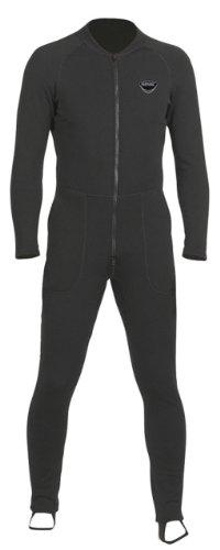SEAC Unifleece Insulating Undergarment Dry Suit, Black, Small