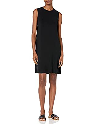 This versatile swing dress features muscle sleeves and a feminine drape for easy, everyday styling Luxe Jersey - Perfectly rich, smooth fabric that beautifully drapes Start every outfit with Daily Ritual's range of elevated basics- check out more sw...
