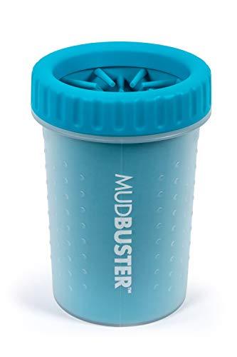 Dexas MudBuster Portable Dog Paw Cleaner, Medium, Blue