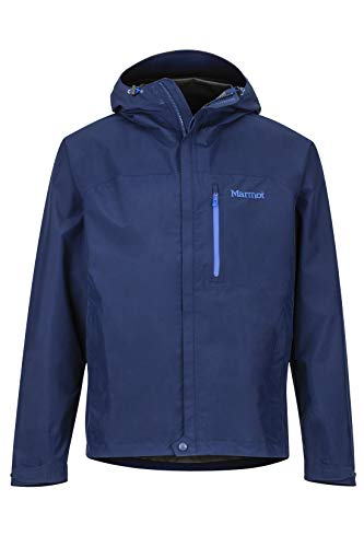 Marmot Men's Minimalist Lightweight Waterproof Rain Jacket, Arctic Navy, Small