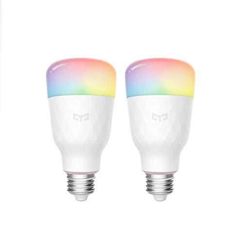 Bombilla Wifi Yeelight 16 millones de colores E27 8.5W RGB regulable...