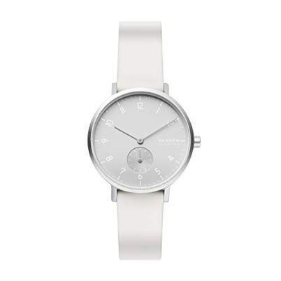Skagen Men's Aaren Kulor Quartz Silicone Watch, Color: White, 36(Model: SKW2763)