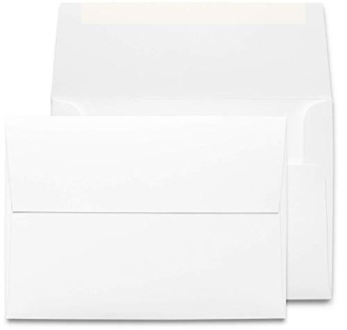 Desktop Publishing Supplies 5x7 Envelopes - 45 Pack - Thick A7 Size (5.25 x 7.25 inch) with Bright White Vellum Finish - for Mailing Greeting Cards, Invitations, Postcards, Photos, Announcements