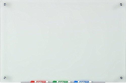 Lavagna in Vetro Smerigliato - 60 cm x 90 cm - Include Vassoio Marcatore in Alluminio (non...