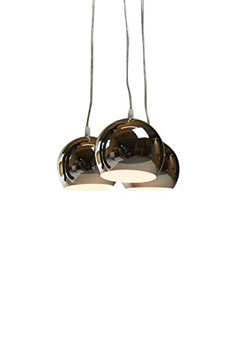 Hängeleuchte Trias chrom/Farbe Chrom, Kupfer, Schwarz oder Bunt (Pendelleuchte Hängelampe Deckenlampe Pendellampe Deckenleuchte)
