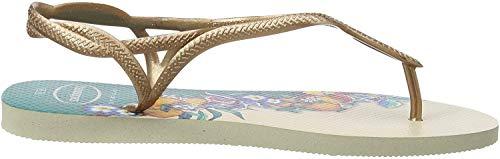 Havaianas Luna Print, Sandalias de Talón Abierto para Mujer, Multicolor (Beige 0121), 37/38 EU