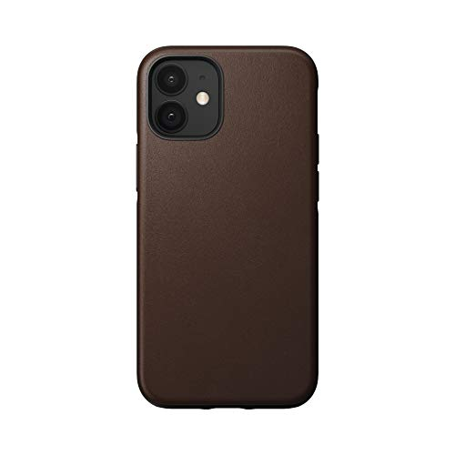 【NOMAD】ノマド RUGGED CASE IPHONE ケース 本革 ハード 国内正規品 (iPhone12 Mini, ブラウン)