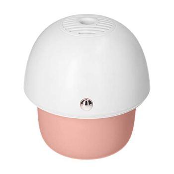 Kstyhome Appareil de chauffage anti-moustique électrique avec ventilateur intégré pour fonction de minuterie de diffusion de liquide Champignon mignon Portable USB Répulsif anti-moustiques électriques