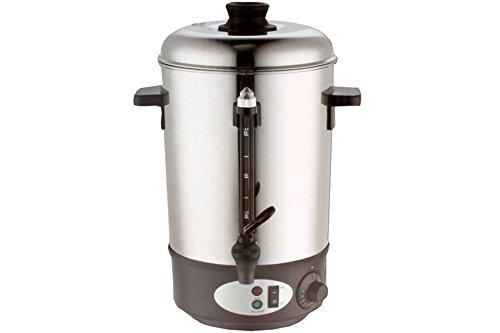 8L Edelstahl Glühwein Behälter Wasserkocher Teekocher Getränkebehälter Glühweinautomat Topf Kessel