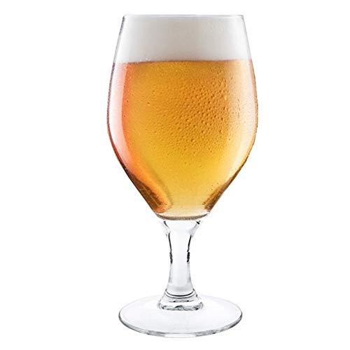 Hostelvia - Calici da birra Barley 440 ml - Confezione da 6 - Vetro temperato - Adatto per microonde e lavastoviglie