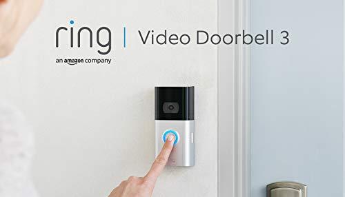 Ring Video Doorbell 3 von Amazon   HD-Video (1080p), verbesserte Bewegungserfassung   Mit 30-tägigem Testzeitraum für Ring Protect