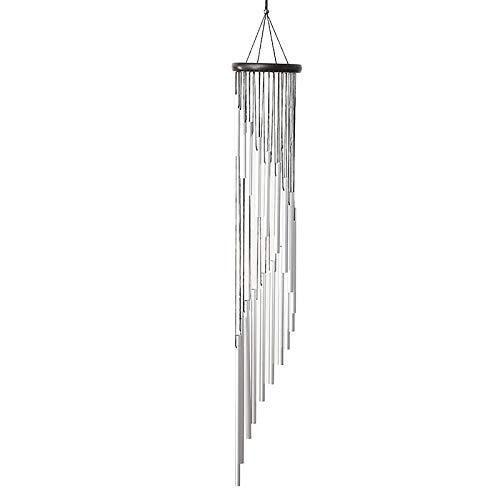 35 'Wind Chimes all'aperto, 18 tubi in lega di alluminio grandi campane del vento da giardino, calmante sonoro a vento per la casa interna esterna patio cortile