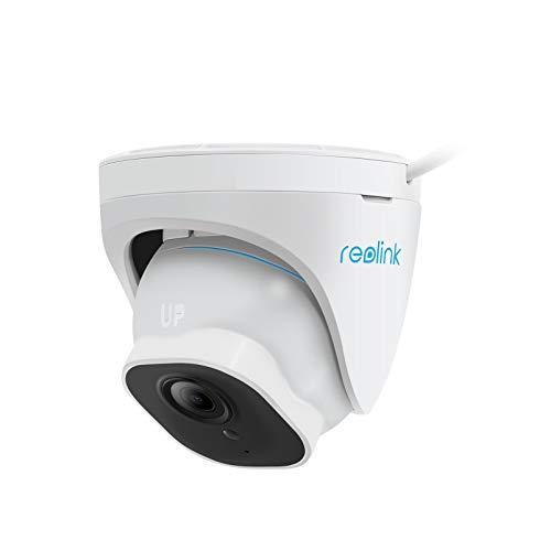 Reolink 5MP Telecamera di Sicurezza Poe Esterna con Il rilevamento Intelligente Umano/Veicoli, Dome CCTV Telecamera IP IP66 a Circuito Chiuso IP66 Resistente alle intemperie, Time-Lapse (RLC-520A)