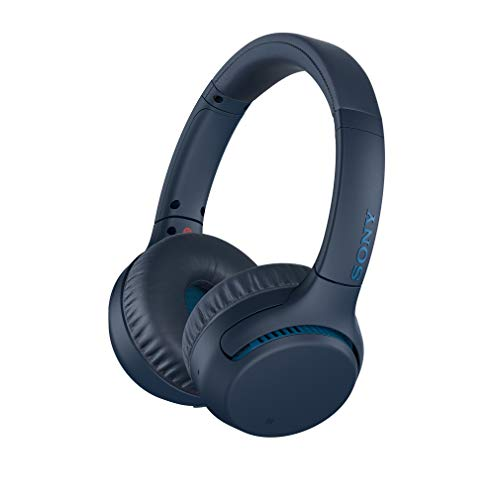 Sony WH-XB700 Wireless Bluetooth Extra Bass Headphones with 30 Hours Battery Life, Passive Operation, Quick Charge, Headset with mic for Phone Calls with Alexa – (Blue)