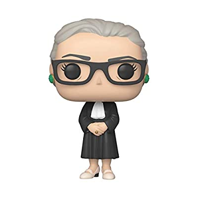"""From ad icons, Ruth Bader Ginsburg, as a stylized POP! From Funko! Figure stands 3. 75 inches tall and comes in a window display box. """"My mother told me to be a lady. And for her, that meant be your own person, be independent. """" - Ruth Bader Ginsburg..."""