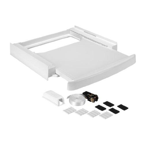 Wpro SKS 100 kit de superposition universel avec tablette pour lave-linge/seche-linge 60 x 60 cm