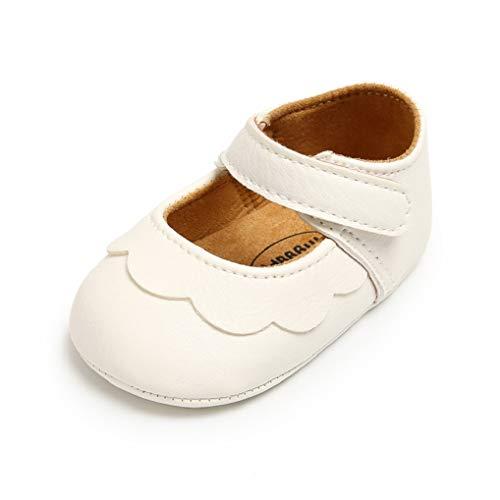 Zapatos de bebé niña Zapatos para recién Nacidos Primeros Pasos Zapatillas Antideslizantes de Suela Blanda para Caminar por 0-18 Meses